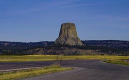 Teufel-Turm-Nationaldenkmal Wyoming stockfotos