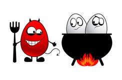 Teufel und Eier vektor abbildung