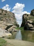 Teufel versehen, Wyoming mit einem Gatter Lizenzfreie Stockfotos