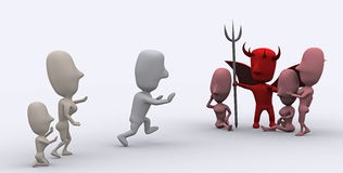Teufel-Versuchung Stockfotos