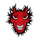 Teufeldämongrausigkeit-Gesichtsabbildung vektor abbildung