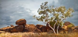 Teufelmarmore Australien-Nordterritorium Stockbild