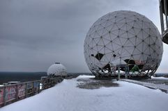Teufelsberg-Winter lizenzfreies stockfoto