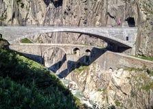 Teufelsbrà ¼ cke或恶魔的桥梁 免版税库存照片