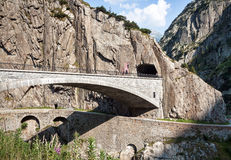 Teufelsbrücke or Devil's Bridge Stock Images