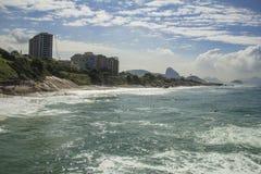 Teufelstrand, Rio de Janeiro Stockbild