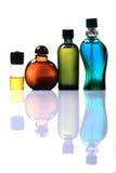 Teure Duftstoffflaschen Stockfoto