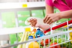 Teure Lebensmittelgeschäftrechnungen Lizenzfreie Stockfotografie