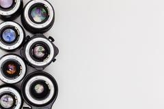 Teure photographische Linsen Der Traum jedes Berufsfotografen Lizenzfreies Stockfoto