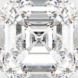 teurer Diamant des makro weißen Edelsteins des Zooms der Illustration 3D Stockfoto