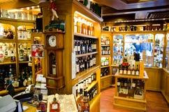 Teurer Whisky des Shops Lizenzfreies Stockbild