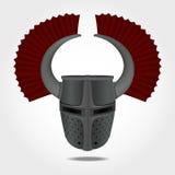 Teutoński hełm, rycerza hełm Zdjęcia Royalty Free