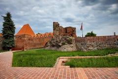 Teutoński rycerza kasztel w Toruńskim Zdjęcie Royalty Free