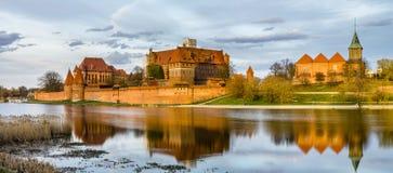 Teutoński kasztel w Malbork w Pomerania (Marienburg) (Polska) Obrazy Stock