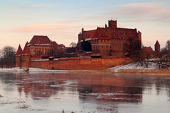 Teutonic castle in Malbork Royalty Free Stock Photo