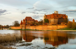 Teutonic Castle in Malbork (Marienburg) in Pomerania (Poland) Royalty Free Stock Photo