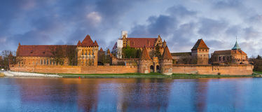Teutonic Castle in Malbork (Marienburg) Stock Photo