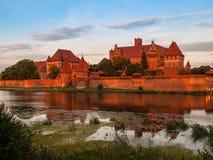 Teutonic Castle in Malbork Royalty Free Stock Photo