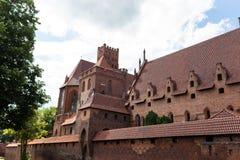 Teutonic castle in Malbork Stock Photo