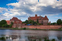 Teutonic castle in Malbork Stock Images