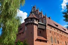 Teutonic castle in Malbork Stock Photos