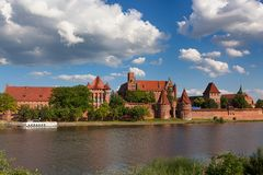 Teutonic castle in Malbork Royalty Free Stock Image