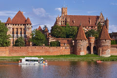 Teutonic castle in Malbork. Poland-Malbork city, August 13.2016.Teutonic Knights Castle in Malbork Royalty Free Stock Images