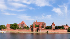 Teutonic Castle in Malbork, Poland. Medieval Malbork Castle in Poland. Main fortress of the Teutonic Knights. Panorama Royalty Free Stock Images