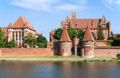 Teutonic Castle in Malbork, Poland. Medieval Zamek Malbork Castle. Main fortress of the Teutonic Knights Royalty Free Stock Image