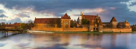 Teutonic Castle in Malbork in Pomerania (Poland) Royalty Free Stock Photos