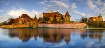 Teutonic Castle in Malbork in Pomerania (Poland) Royalty Free Stock Photography