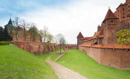 Teutonic castle Malbork in Pomerania region of Poland. Royalty Free Stock Images