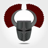 Teutonic helmet, knight helmet Royalty Free Stock Photos