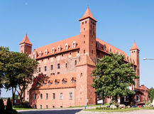Teutonic Kasteel in Gniew, Polen Stock Afbeelding