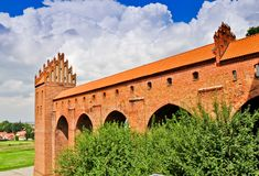Teutonic kasteel Kwidzyn De toilettoren genoemd Dansker royalty-vrije stock afbeelding