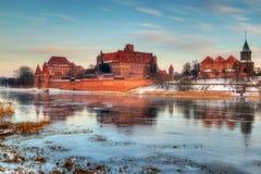 Teutonic kasteel in Malbork Royalty-vrije Stock Afbeeldingen