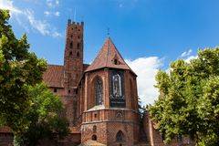 Teutonic kasteel in Malbork Stock Afbeeldingen