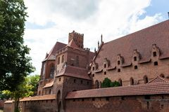 Teutonic kasteel in Malbork Stock Foto