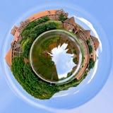 Teutonic kasteel op planeet Stock Foto