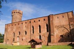 Teutonic kasteel in Polen (Swiecie) Stock Foto