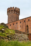 Teutonic kasteel in Polen (Swiecie) Royalty-vrije Stock Afbeeldingen