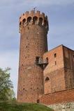 Teutonic kasteel in Swiecie, Polen Stock Afbeeldingen