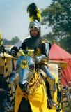Teutonic Knight riding on horseback royalty free stock photo