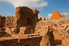 Teutonic Knights castle, Torun, Poland. Ruins of of Teutonik knights castle, Torun, Poland Stock Photo