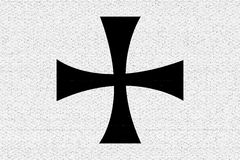 Teutonic knights flag Stock Photography