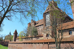 Teutonic Knights' fortress in Malbork, Poland Stock Images