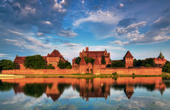 Teutonic Knights in Malbork castle in summer Royalty Free Stock Photography