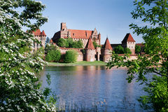 Teutonic Schloss in Malbork Lizenzfreie Stockbilder