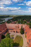 Teutonic Schloss in Malbork Stockfoto