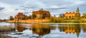 Teutonic Schloss in Malbork (Marienburg) in den Pommern (Polen) Stockbilder